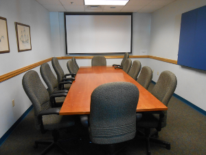 Longfellow room with conference table and 12 chairs