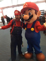 Supporting Cast Cosplay as Mario