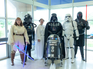group of people dressed in Star Wars cospaly