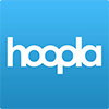 hoopla on blue background